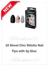 Royal False Street Chic Stiletto 24 Nails Including 3gm Nail Glue NEW*