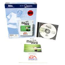 PGA European Tour for PC CD-ROM in Big Box by Electronic Arts, 1996, VGC, CIB