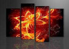 Images sur toile sur cadre 130 x 80 cm abstrait feu art pret a accrocher 6147