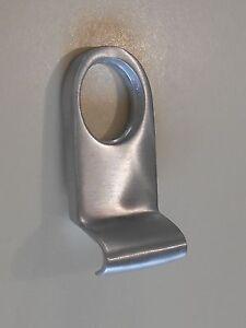 BRASS ROUND CYLINDER PULL - HOUSE RIM LOCK HANDLE ESCUTCHEON - SATIN CHROME
