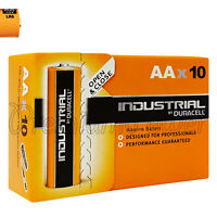 10 x Duracell AA batteries Industrial Alkaline 1.5V MN1500 LR6 MIGNON Pack of 10