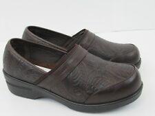 Easy Street Womens Origin Leather Lightweight Clogs BrownTool  Choose Size