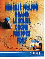 PUBLICITE ADVERTISING 104  1996  NESCAFE FRAPPE   café