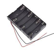 5x(Nuovo 6 x 1,5 V AA 2A vano Batterie 9V Con cavo