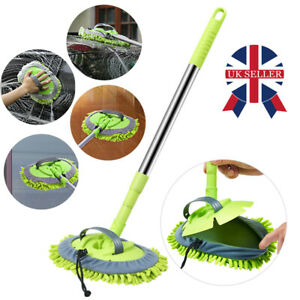 Telescopic Car Brush Wash Soft Care Mop Vehicle Cleaning Window Adjustable W