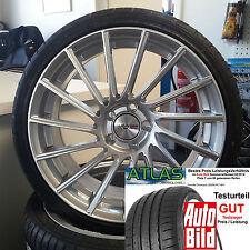 """18"""" Motec Tornado Silber ET45 Alufelgen 225/40 Atlas für VW Golf 7 VII Variant"""