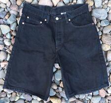 Levi Strauss Levi's 550 Relaxed Fit Black Denim Jean Shorts Size 32W Men's