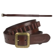 Tourbon Leather Cartridges Belt Ammo Carrying Sling for.38/357/9mm Magnum in USA