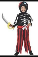 SMIFFY's PIRATE SKELETON HALLOWEEN -PARTY COSTUME -TROUSERS- TOP & HEADPIECE NEW