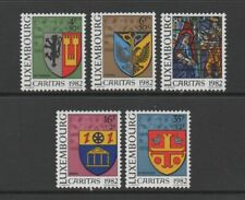 LUXEMBOURG 1982 CARITAS. ARMS OF LOCAL AUTHORITIES (2nd series) *VF MNH*