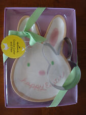 Hallmark Happy Easter Bunny Cookie Cutter and Plate Set - NEW in Box