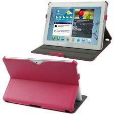 Slim Tasche Glatt Etui Case Hülle Magenta für Samsung Galaxy Tab 2 / 10.1