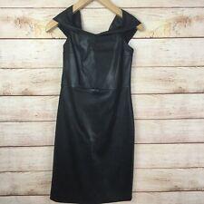 The Row Black Leather Pierre Mini Dress Sz 6 New NWT LBD