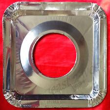UNIVERSAL Aluminum Foil Square Gas Burner Disposable Bib LinersCovers 8,16,24,48