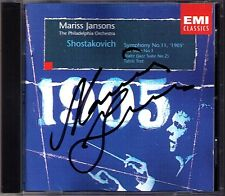 Mariss Jansons SIGNED Shostakovich Symphony No. 11 jazz Suite No. 1 Tea for Two CD