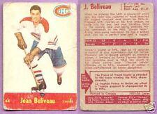 1955-56 Parkhurst Single Jean Beliveau Montreal Canadians #44