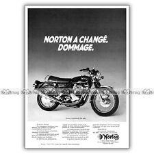 PUB NORTON 850 COMMANDO MK3 - Original Advert / Publicité Moto de 1975