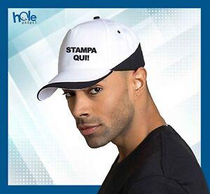 Cappellino berretto PERSONALIZZATO cotone uomo donna con visiera estivo bianco