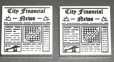 LEGO 2 CITY FINANCIAL MINIFIG NEWSPAPER White 2x2 News Tiles 8833