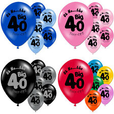 40 Light and Dark Blue 40th Birthday Party Balloons