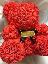 XL Teddybär Teddy Rose Bär Rot Rosenbär 40cm Geburtstag Liebes Geschenk + GRAVUR