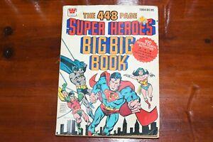 DC Comics Super Heroes 1980 Big Big Book Whitman Superman Batman Wonder Woman