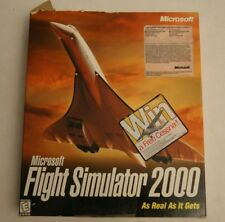 Vintage Microsoft Flight Simulator 2000 PC Game