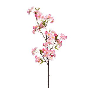 Faux Silk Apple Blossom Stem 95cm/37 Inches Pink