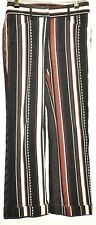 AMAZING ICEBERG STRIPED COTTON TROUSERS LOW WAIST BROWN BLACK SIZE 40 28 W