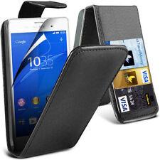 Fundas y carcasas lisos Para Sony Xperia M de piel sintética para teléfonos móviles y PDAs