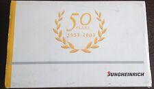 50 years Jungheinrich: 2 x forklift truck fork lift  1953 vs 2003