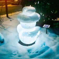Solar Schneemann Lichtfarbe wählbar Winterdekoration Weihnachten, esotec 106032