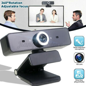 360° Rotatable 1080P HD Network Webcam PC USB Camera Video Recording W/Mic
