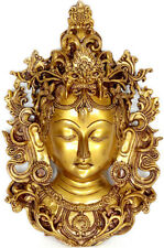"Brass Maa Tara Wall Décor Hanging Mask 11"""
