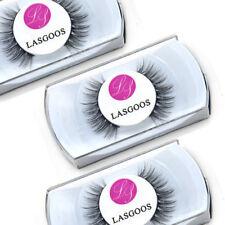 3 * 100% Pure Mink Crossed False Eyelashes Beauty Girl Eye Make-up Lashes #009