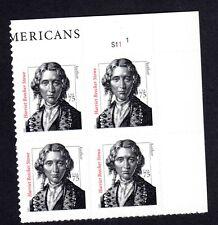 3430 75c Harriet Beecher Stowe, Plate Block MNH-VF