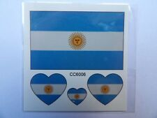 ARGENTINA FLAG TEMPORARY TATTOOS (BRAND NEW) 60mm X 60mm