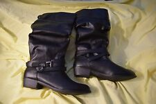 NEW in the Box SO Glue Stick Women's Size 9.5 Strappy Buckle Black Boots $79.99