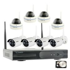 Wireless Home Surveillance Security Systems with 8 Cameras & 1TB hard drive US