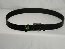 Beverly Hills Polo Club Men's Leather Belt Black Size 36/38 Strong Gun Metal