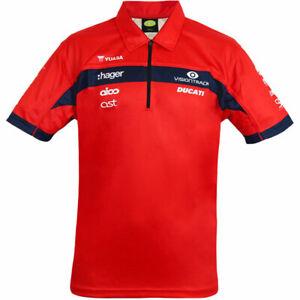 Official 2021 PBM VisionTrack Ducati Team Polo shirt .- Z21BSVTDTPS