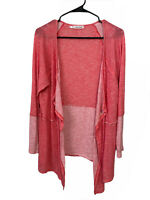 Maurices Open Front Cardigan Waterfall Sweater Pink Top Women's Plus Size 1