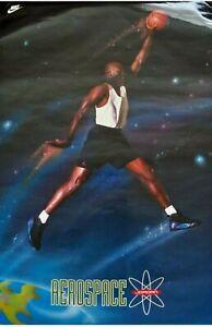 Vintage 1993 NIKE Michael Jordan Aerospace Poster Jordan Aqua 8 ~ NEW & SEALED