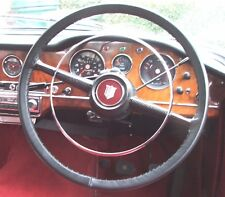 TRADITIONAL LEATHER STEERING WHEEL COVER / GLOVE HUMBER HAWK SUPER SNIPE