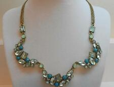 Betsey Johnson Mint Multi Crystal Gem Cluster Necklace MSRP $58 B08719-N01