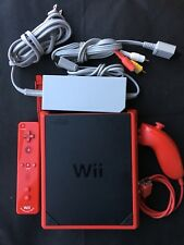 Nintendo Wii mini Limited Edition 8GB Red Console w/ Wii Resort Game