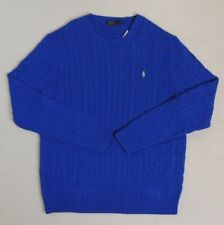 Polo Ralph Lauren Pony Cable Knit Sweater Crewneck Ski Pullover Jumper XLT Tall