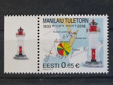 **NEW**Estland Eesti_Stamp 2018_Manilaiu Lighthouse_Leuchtturm_Faro_Fyr_lose
