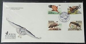 1996 Malaysia Birds of Prey 4v Stamps FDC minor toned (KL Cachet) Offer (Lot C)