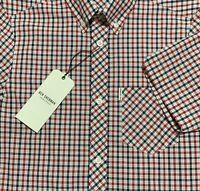 "Ben Sherman - ""Regular Mod Fit"" Red, White And Blue Checkered/Gingham Shirt"